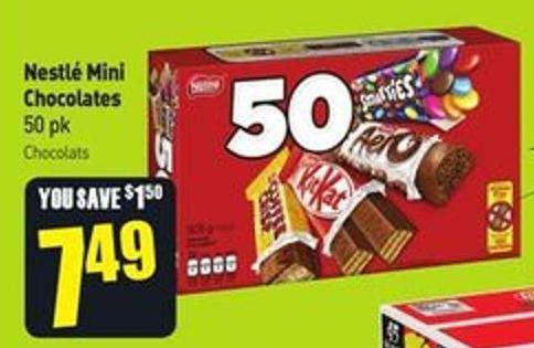 Nestlé Mini Chocolates 50 Pk