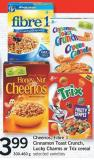 Cheerios - Fibre 1 - Cinnamon Toast Crunch - Lucky Charms Or Trix Cereal - 300-460 G