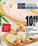 Fresh Icelandic Sole Fillets Or Stuffed 2.43/100 g