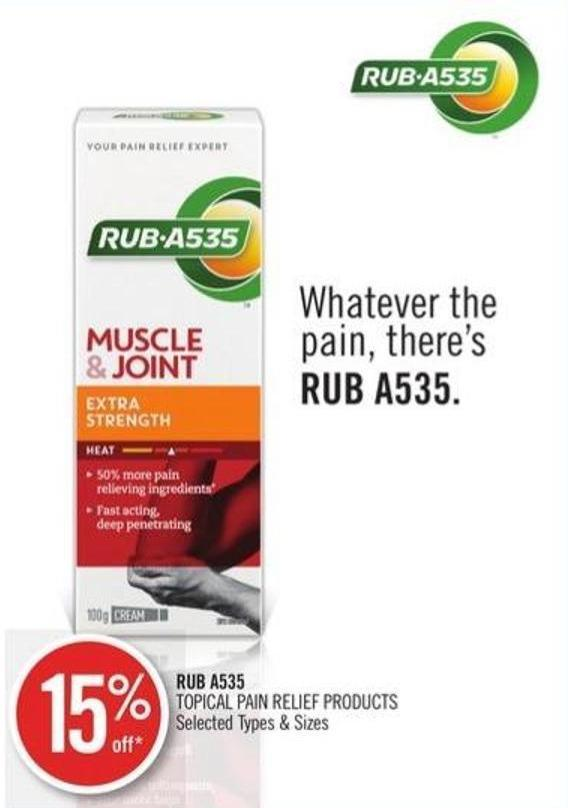 Rub A535 Topical Pain Relief Products
