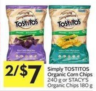 Simply Tostitos Organic Corn Chips