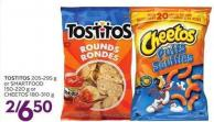 Tostitos 205-295 g or Smartfood 150-220 g or Cheetos 180-310 g
