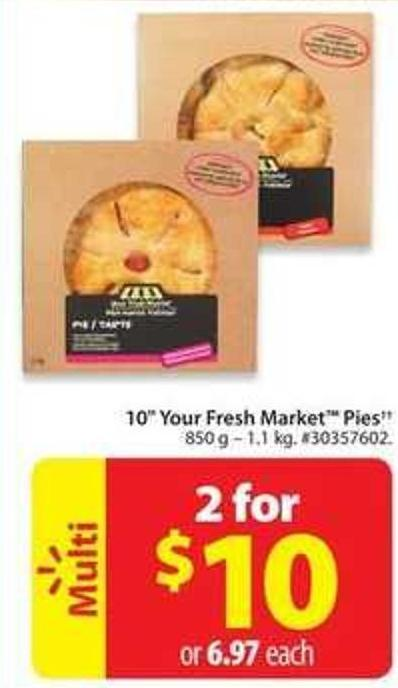 10in Your Fresh Market Pies
