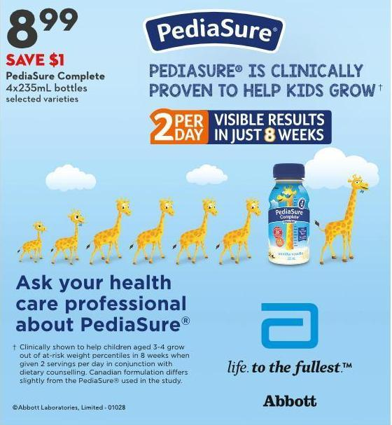 Pediasure Complete 4x235ml Bottles