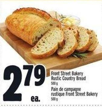 Front Street Bakery Rustic Country Bread