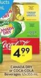 Canada Dry or Coca-cola Beverages - 50 Air Miles