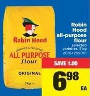 Robin Hood All-purpose Flour - 5 Kg