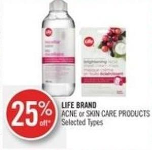 Life Brand Acne or Skin Care Products
