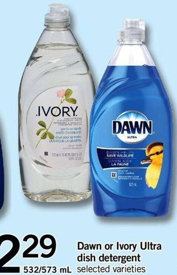 Dawn Or Ivory Ultra Dish Detergent - 532/573 Ml