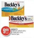 Buckley's Complete Caplets (40's) or Liquid Gels (24's)