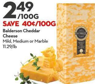 Balderson Cheddar Cheese Mild - Medium or Marble