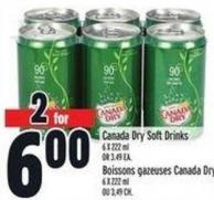 Canada Dry Soft Drinks 6 X 222 ml Or 3.49 Ea.