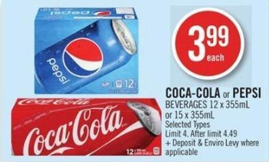 Coca-cola or Pepsi Beverages