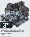 Blackberries Or Peru - 170 g