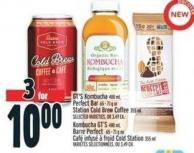 Gt's Kombucha 480 ml - Perfect Bar 65 - 71 g Or Station Cold Brew Coffee 355 ml Selected Varieties - Or 3.49 Ea.