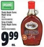 Shady Maple Farms Maple Syrup 375 ml