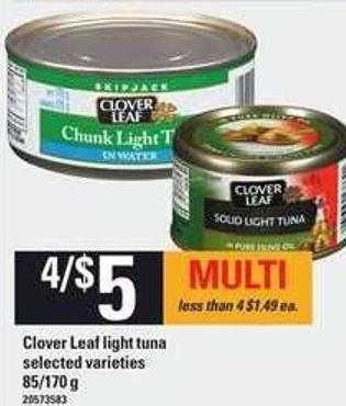 Clover Leaf Light Tuna - 85/170 g