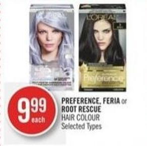 Preference - Feria or Root Rescue Hair Colour