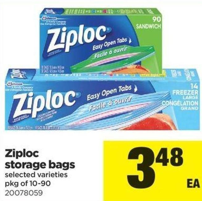 Ziploc Storage Bags - Pkg Of 10-90