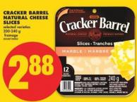 Cracker Barrel Natural Cheese Slices - 200-240 g