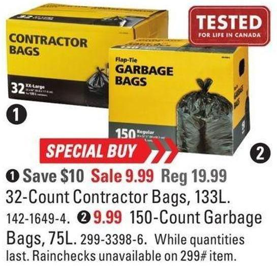 32-count Contractor Bags - 133l