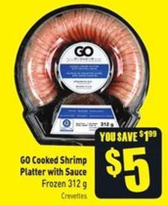 Go Cooked Shrimp Platter With Sauce Frozen 312 g