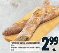 Front Street Bakery Calabrese Baguette