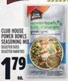 Club House Power Bowls Seasoning Mix