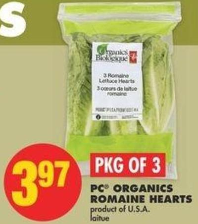 PC Organics Romaine Hearts - Pkg Of 3