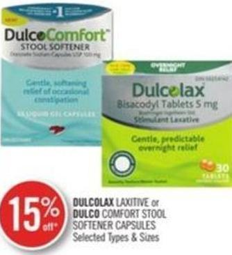Dulcolax Laxitive or Dulco Comfort Stool Softener Capsules