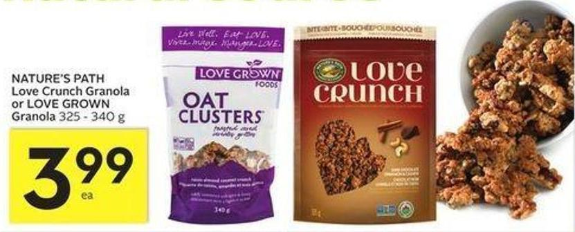 Nature's Path Love Crunch Granola or Love Grown Granola