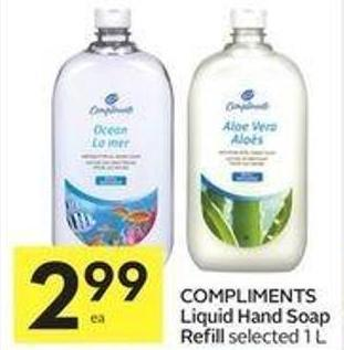 Compliments Liquid Hand Soap Refill