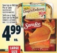 Sara Lee Or Mccain Pie Or Cake