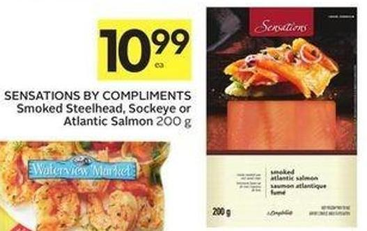 Sensations By Compliments Smoked Steelhead - Sockeye or Atlantic Salmon 200 g