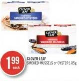 Clover Leaf Smoked Mussels or Oysters 85 g