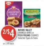 Nature Valley Granola Bars or Peek Freans Cookies