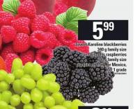 Sweet Karoline Blackberries - 340 G Or Driscoll's Raspberries - 340 G