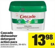 Cascade Dishwasher Detergent Action Pacs - 39-60's