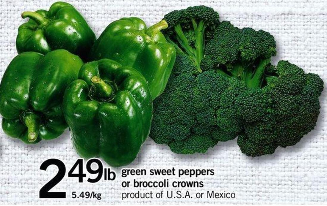 Green Sweet Peppers Or Broccoli Crowns
