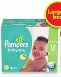Pampers Baby Dry Orswaddlers or Cruisers Econo Diapers