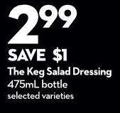 The Keg Salad Dressing 475ml Bottle