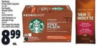 Starbucks K-cup Coffee Capsules 10 Un. Or Van Houtte Ground Coffee 340 G