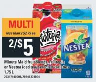 Minute Maid Fruit Blends - Fruitopia Or Nestea Iced Tea - 1.75 L