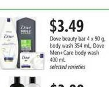 Dove Beauty Bar - 4 X 90 G - Body Wash - 354 Ml - Dove Men+care Body Wash - 400 Ml