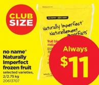 No Name Naturally Imperfect Frozen Fruit - 2/2.75 Kg