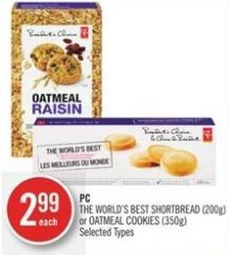 PC The World's Best Shortbread (200g) or Oatmeal Cookies (350g)