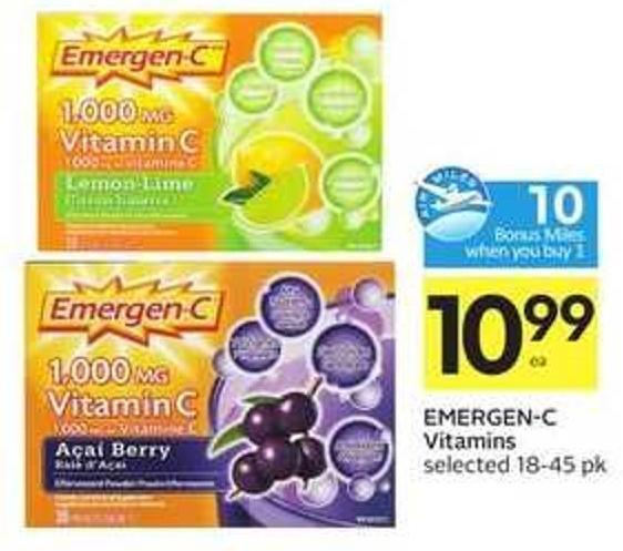 Emergen-c Vitamins - 10 Air Miles