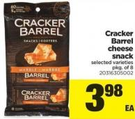 Cracker Barrel Cheese Snack - Pkg of 8