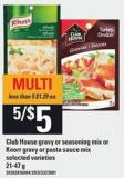 Club House Gravy Or Seasoning Mix Or Knorr Gravy Or Pasta Sauce Mix - 21-47 g