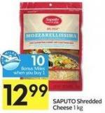 Saputo Shredded Cheese 1 Kg 10 Air Miles Bonus Miles